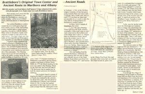 Brattleboro Historical Society Newsletter Summer 2015 - Ancient Roads